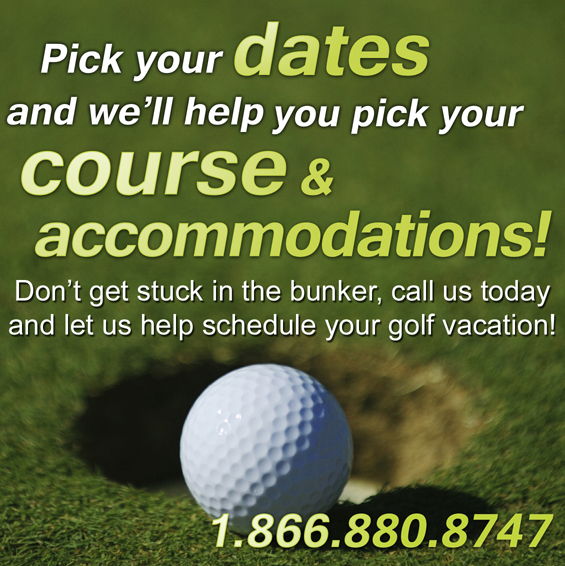 Pick your dates and we'll pick your course & accommodations!